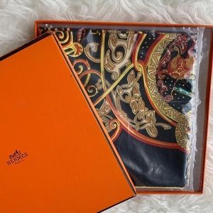 Hermes silk scarf new with box
